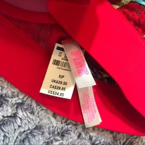 70d9c9aa9b435 PINK Victoria s Secret Intimates   Sleepwear - NWT VS PINK Red Tropical  Palm Tree Padded Bralette